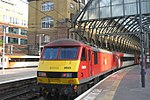 Kings Cross - DB Cargo 90029 on hire to VTEC.JPG