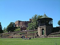 Tamworth Castle from the castle grounds