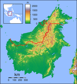 Sebuyau is located in Borneo
