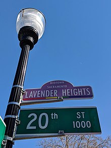 Lavender Heights in Sacramento, California