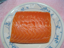 A fillet of Atlantic salmon