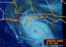 A satellite imagery showing a hurricane approaching Louisiana