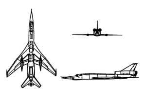 Orthographic projection of the Tupolev Tu-22.