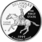 Delaware quarter dollar coin