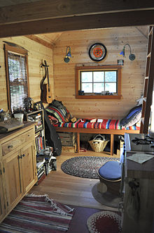 Interior of a tiny home in Portland