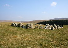 Stone circle on Moel Ty-uchaf - geograph.org.uk - 385370.jpg