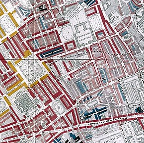 old map of Bloombsbury in London