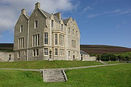 Trumland House on Rousay, designed by David Bryce who also designed Balfour Castle on Shapinsay.