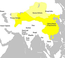 Tang dynasty at its greatest extent, c. 669a