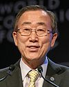 Ban Ki-moon at the World Economic Forum at Davos, Switzerland in 2008