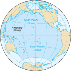 Map of the Pacific Ocean
