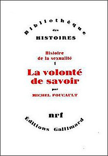 History of Sexuality, French edition, volume one.jpg
