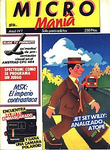 Micromania magazine 1985 first issue - Cover of a Spanish computer game magazine.jpg