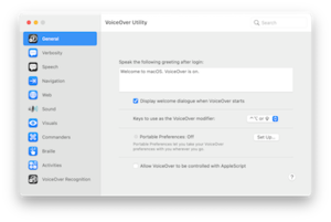VoiceOver running on OS X Yosemite