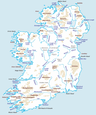 Map Of Ireland Islands.Ireland Turkcewiki Org