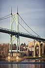 Portland, OR — St. John's Bridge, view of east tower from southwest.jpg